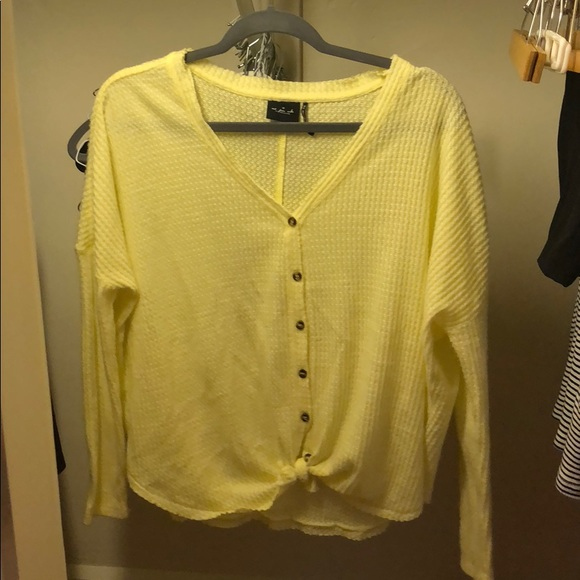 Urban Outfitters Tops - yellow urban outfitters long sleeve shirt
